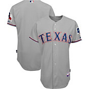 Majestic Men's Authentic Texas Rangers Cool Base Road Grey On-Field Jersey