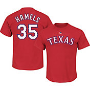 Majestic Triple Peak Men's Texas Rangers Cole Hamels Red T-Shirt