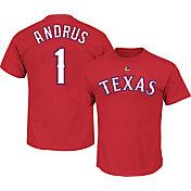 Majestic Men's Texas Rangers Elvis Andrus #1 Red T-Shirt