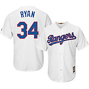Majestic Men's Replica Texas Rangers Nolan Ryan Cool Base White Cooperstown Jersey