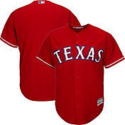 Majestic Men's Replica Texas Rangers Cool Base Alternate Red Jersey