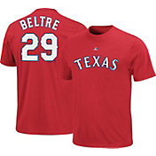 Majestic Triple Peak Men's Texas Rangers Adrian Beltre Red T-Shirt