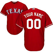 Majestic Men's Custom Cool Base Replica Texas Rangers Alternate Red Jersey