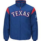 Majestic Men's Texas Rangers Therma Base Royal On-Field Premier Jacket