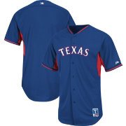 Majestic Men's Authentic Texas Rangers Royal Cool Base Batting Practice Jersey