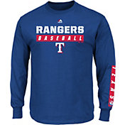 Majestic Men's Texas Rangers Proven Pastime Royal Long Sleeve Shirt