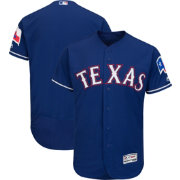 Majestic Men's Authentic Texas Rangers Alternate Royal Flex Base On-Field Jersey