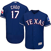 Majestic Men's Authentic Texas Rangers Shin-Soo Choo #17 Alternate Royal Flex Base On-Field Jersey