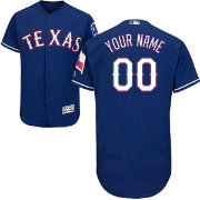 Majestic Men's Custom Authentic Texas Rangers Flex Base Alternate Royal On-Field Jersey