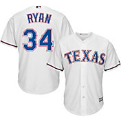 Majestic Men's Replica Texas Rangers Nolan Ryan #34 Cool Base Home White Jersey