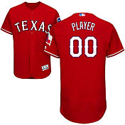 Majestic Men's Full Roster Authentic Texas Rangers Flex Base Alternate Red On-Field Jersey