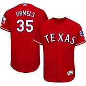Majestic Men's Authentic Texas Rangers Cole Hamels #35 Alternate Red Flex Base On-Field Jersey