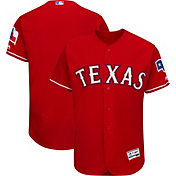 Majestic Men's Authentic Texas Rangers Alternate Red Flex Base On-Field Jersey