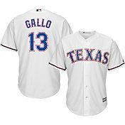 Majestic Men's Replica Texas Rangers Joey Gallo #13 Cool Base Home White Jersey