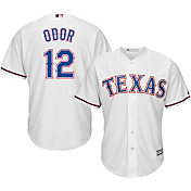 Majestic Men's Replica Texas Rangers Rougned Odor #12 Cool Base Home White Jersey