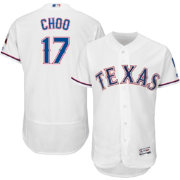 Majestic Men's Authentic Texas Rangers Shin-Soo Choo #17 Home White Flex Base On-Field Jersey