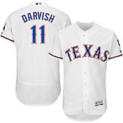 Majestic Men's Authentic Texas Rangers Yu Darvish #11 Home White Flex Base On-Field Jersey