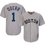 Majestic Men's Replica Boston Red Sox Bobby Doerr Cool Base Grey Cooperstown Jersey