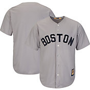 Majestic Men's Replica Boston Red Sox Cool Base Grey Cooperstown Jersey