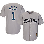 Majestic Men's Replica Boston Red Sox George Kell Cool Base Grey Cooperstown Jersey