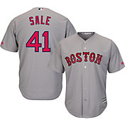 Majestic Men's Replica Boston Red Sox Chris Sale #41 Cool Base Road Grey Jersey