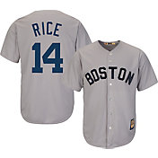 Majestic Men's Replica Boston Red Sox Jim Rice Cool Base Grey Cooperstown Jersey