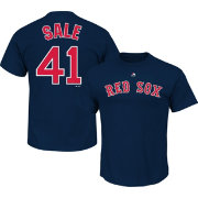 Majestic Men's Boston Red Sox Chris Sale #41 Navy T-Shirt