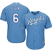 Majestic Men's Replica Kansas City Royals Lorenzo Cain #6 Cool Base Alternate Light Blue Jersey