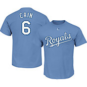 Majestic Men's Kansas City Royals Lorenzo Cain #6 Light Blue T-Shirt