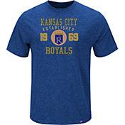 Majestic Men's Kansas City Royals Cooperstown Royal T-Shirt