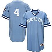 Majestic Men's Kansas City Royals Alex Gordon #4 Light Blue Turn Back The Clock Authentic Flex Base Jersey