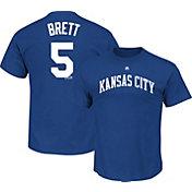Majestic Triple Peak Men's Kansas City Royals George Brett Royal T-Shirt