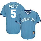 Majestic Men's Replica Kansas City Royals George Brett Cool Base Light Blue Cooperstown Jersey