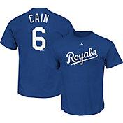 Majestic Triple Peak Men's Kansas City Royals Lorenzo Cain Royal T-Shirt