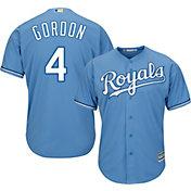 Majestic Men's Replica Kansas City Royals Alex Gordon #4 Cool Base Alternate Light Blue Jersey