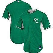 Majestic Men's Authentic Kansas City Royals Kelly Green Cool Base Batting Practice Jersey