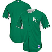 Majestic Men's Authentic Kansas City Royals Kelly Green Cool Base Batting Practice Jersey