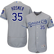Majestic Men's Authentic Kansas City Royals Eric Hosmer #35 Road Grey Flex Base On-Field Jersey