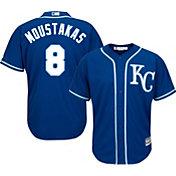 Majestic Men's Replica Kansas City Royals Mike Moustakas #8 Cool Base Alternate Royal Jersey