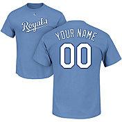 Majestic Men's Custom Kansas City Royals Light Blue T-Shirt