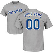 Majestic Men's Custom Kansas City Royals Grey T-Shirt