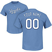 Majestic Men's Custom Kansas City Royals Light Blue T-Shirt
