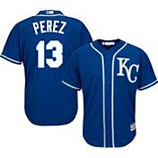 Majestic Men's Replica Kansas City Royals Salvador Perez #13 Cool Base Alternate Royal Jersey