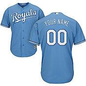 Majestic Men's Custom Cool Base Replica Kansas City Royals Alternate Light Blue Jersey