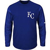 Majestic Men's Kansas City Royals Therma Base Royal Authentic Collection Pullover Tech Fleece