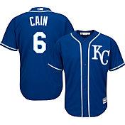 Majestic Men's Replica Kansas City Royals Lorenzo Cain #6 Cool Base Alternate Royal Jersey