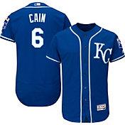 Majestic Men's Authentic Kansas City Royals Lorenzo Cain #6 Alternate Royal Flex Base On-Field Jersey