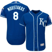 Majestic Men's Authentic Kansas City Royals Mike Moustakas #8 Alternate Royal Flex Base On-Field Jersey