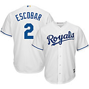Majestic Men's Replica Kansas City Royals Alcides Escobar #2 Cool Base Home White Jersey