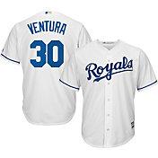 Majestic Men's Replica Kansas City Royals Yordano Ventura #30 Cool Base Home White Jersey